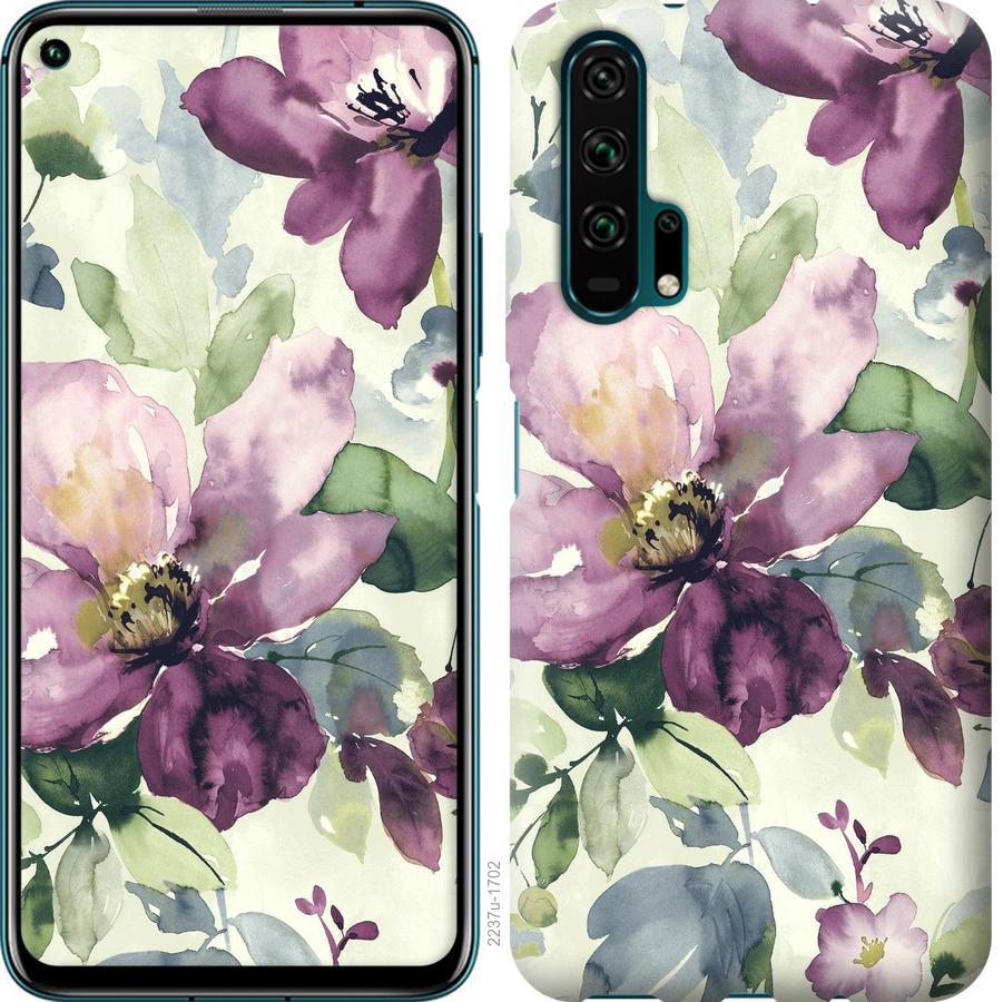 Чехол на Huawei Nova 6 Цветы акварелью