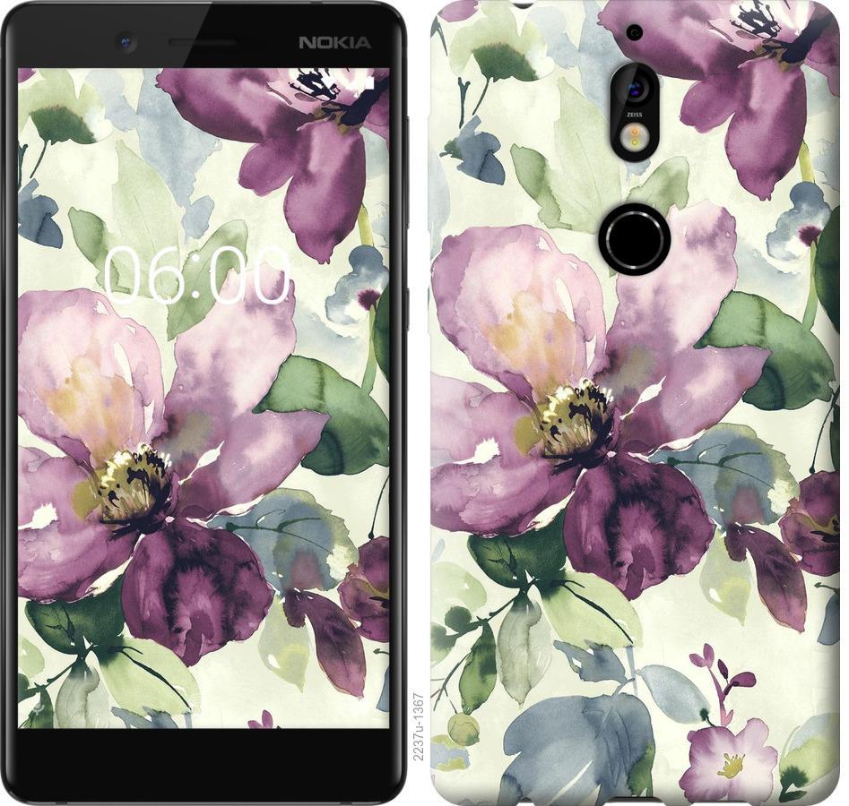 Чохол на Nokia 7 Квіти аквареллю