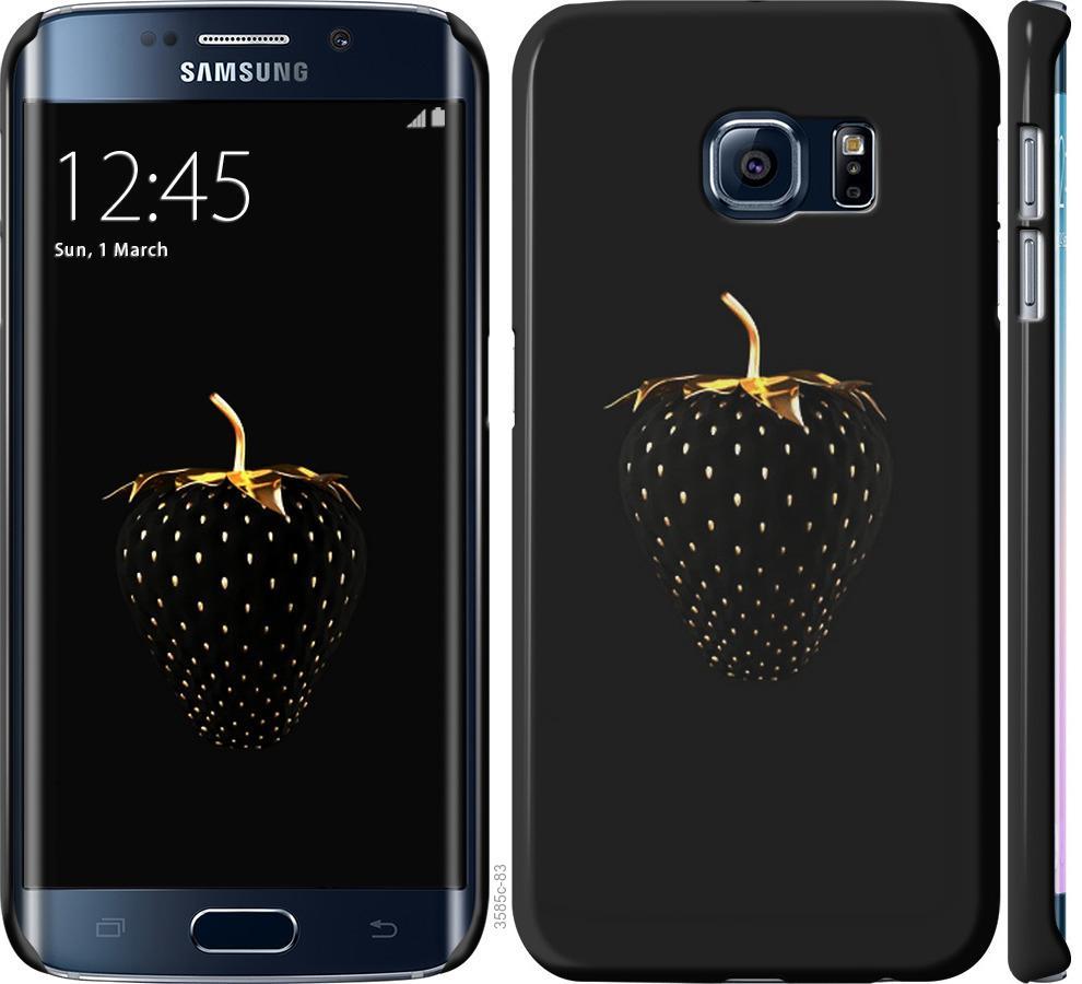 Чехол на Samsung Galaxy S6 Edge G925F Черная клубника