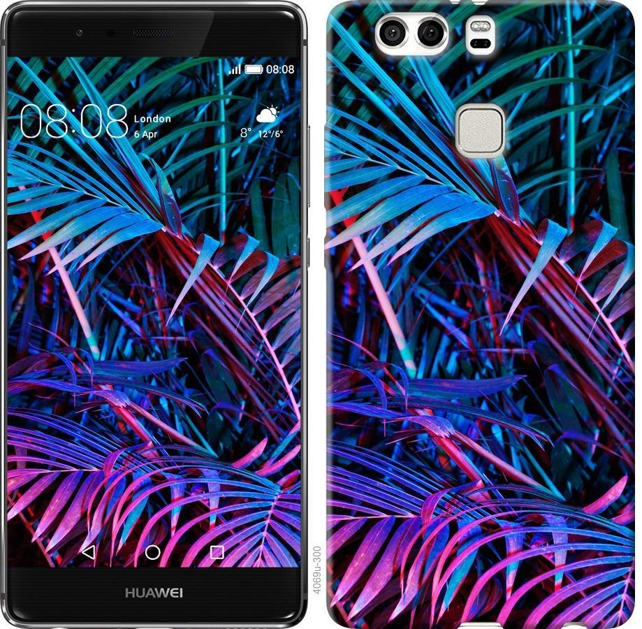 Чехол на Huawei P9 Plus Папоротник под ультрафиолетом