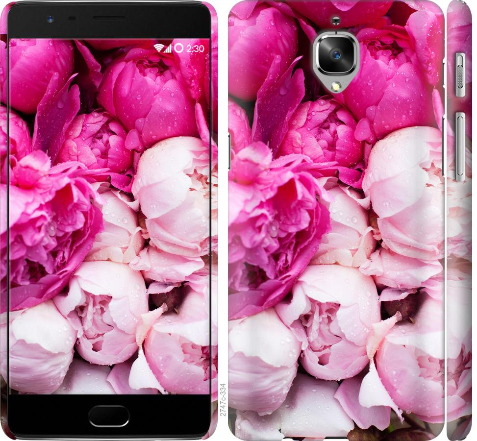 Чехол на OnePlus 3 Розовые пионы
