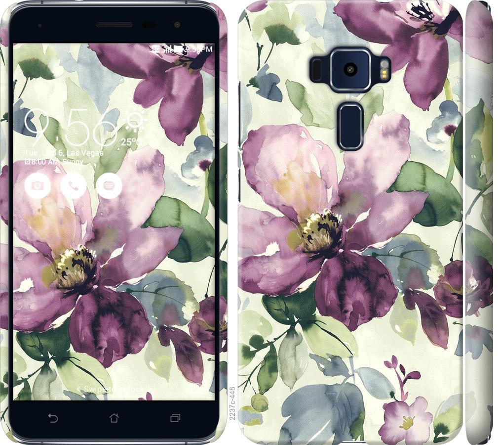 Чехол на Asus Zenfone 3 ZE552KL Цветы акварелью