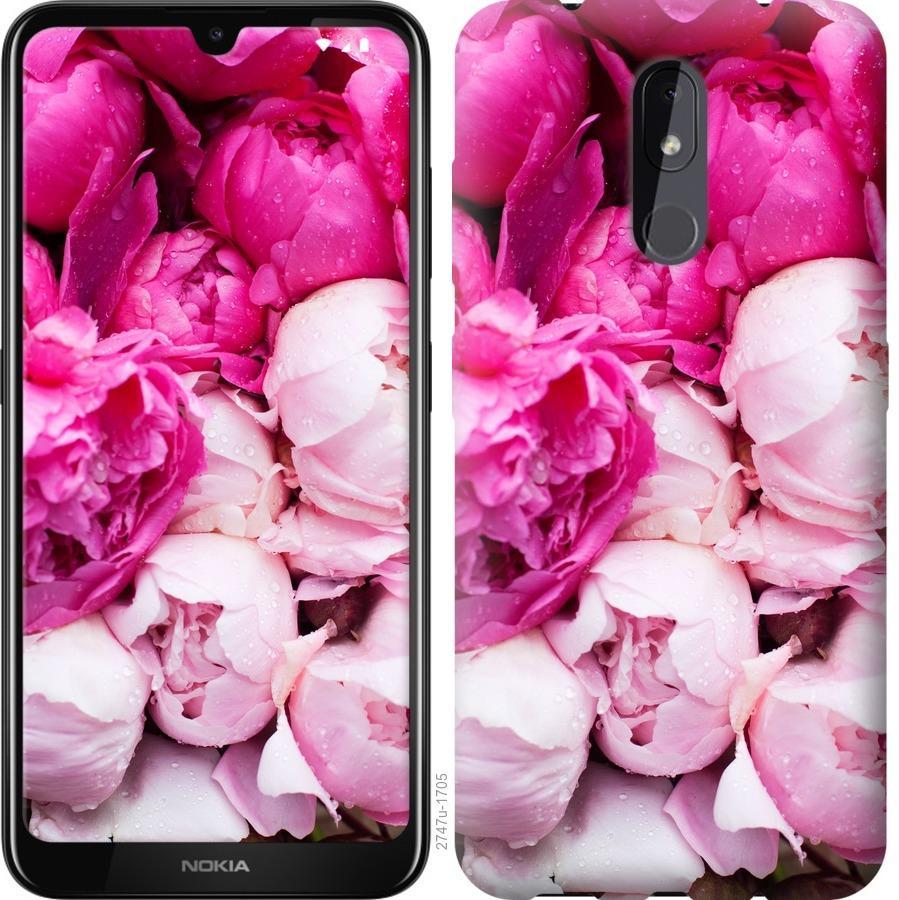 Чехол на Nokia 3.2 Розовые пионы