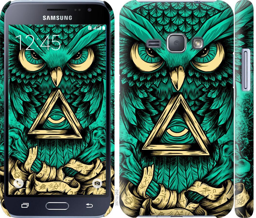 Чехол на Samsung Galaxy J1 (2016) Duos J120H Сова Арт-тату