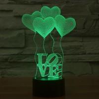 3D визуальная лампа Love