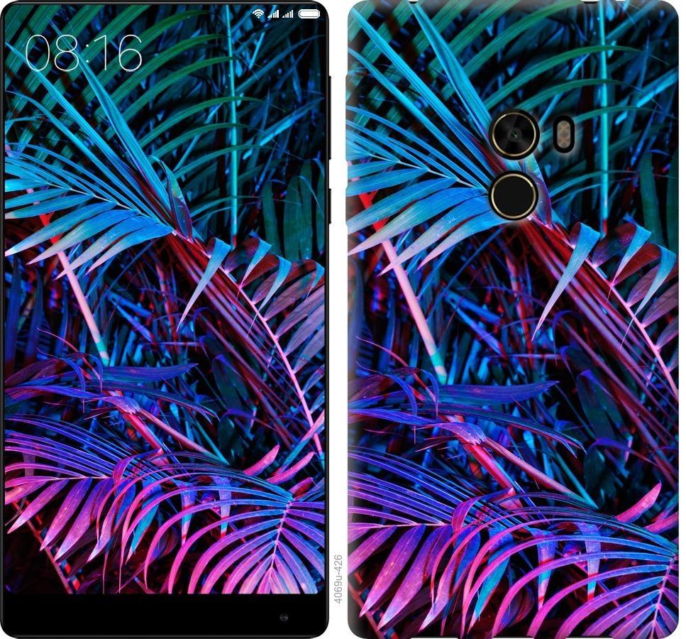 Чехол на Xiaomi Mi MiX Папоротник под ультрафиолетом