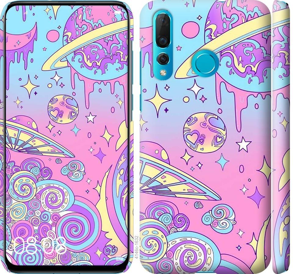 Чехол на Huawei Nova 4 Розовая галактика