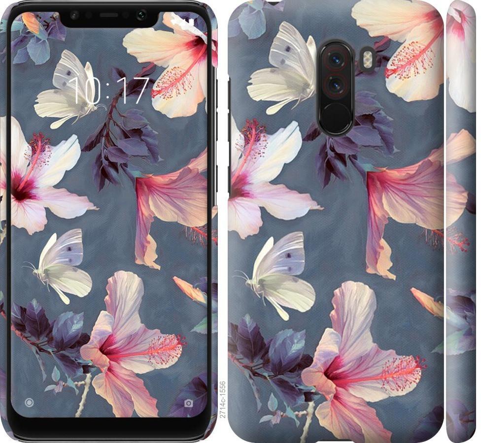 Чехол на Xiaomi Pocophone F1 Нарисованные цветы