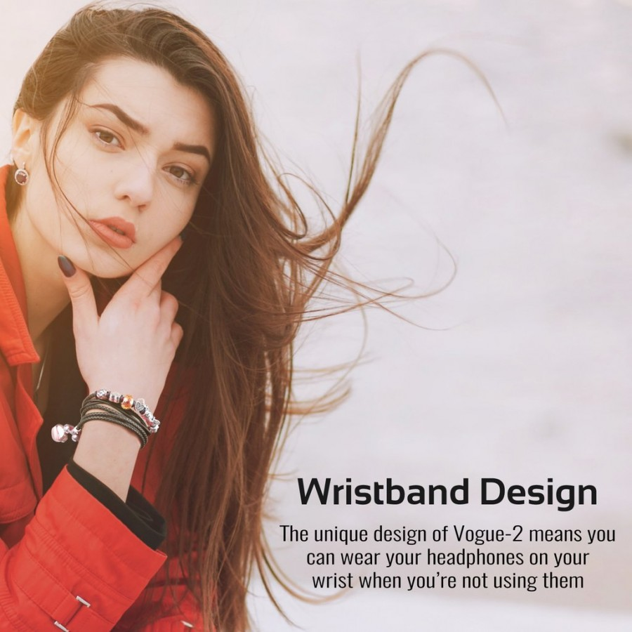 Проводная гарнитура Promate - Vogue-2 Wearable Bracelet Stereo Earphones