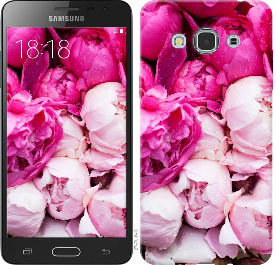 Чехол на Samsung Galaxy J3 Pro Розовые пионы