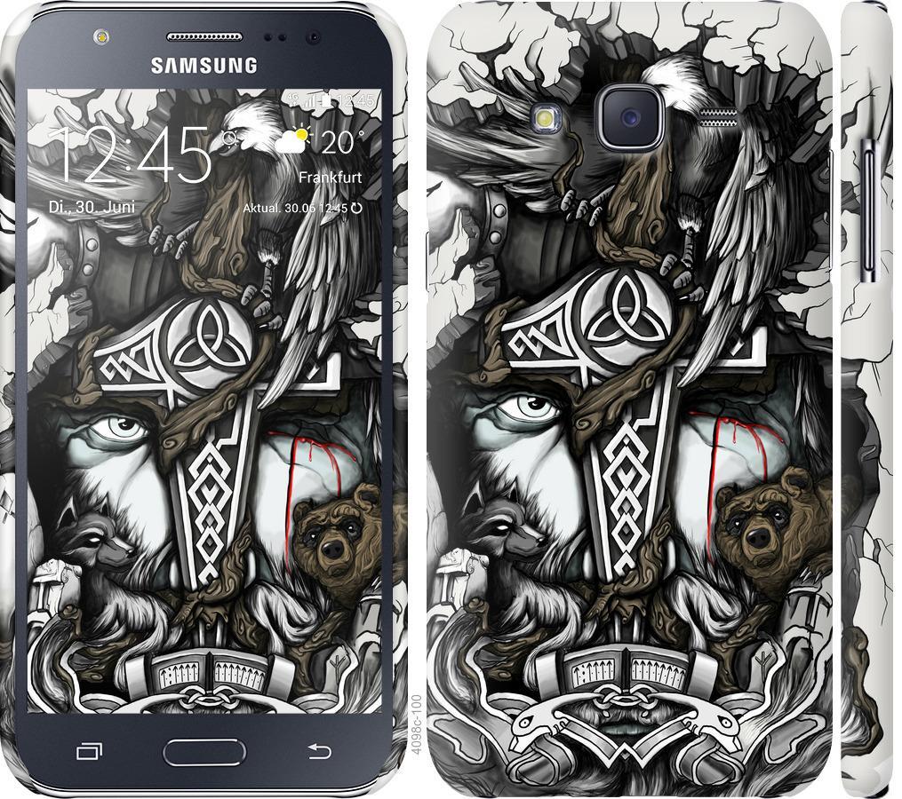 Чехол на Samsung Galaxy J5 (2015) J500H Тату Викинг