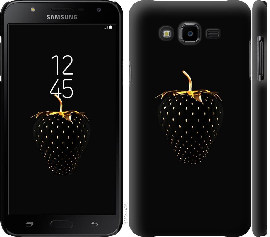 Чехол на Samsung Galaxy J7 Neo J701F Черная клубника
