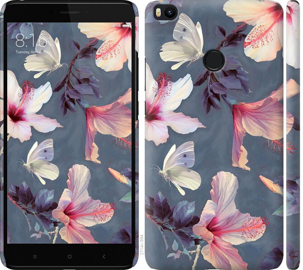 Чехол на Xiaomi Mi Max 2 Нарисованные цветы