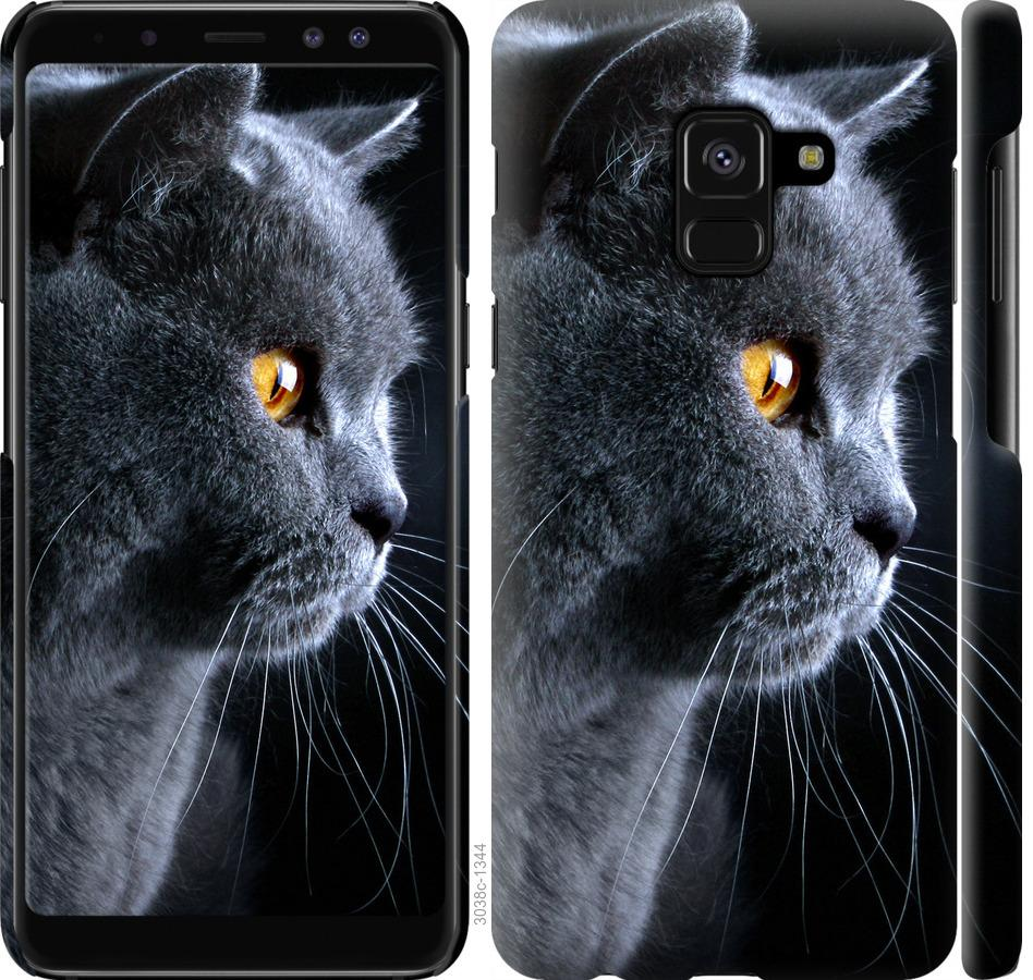 Чехол на Samsung Galaxy A8 2018 A530F Красивый кот