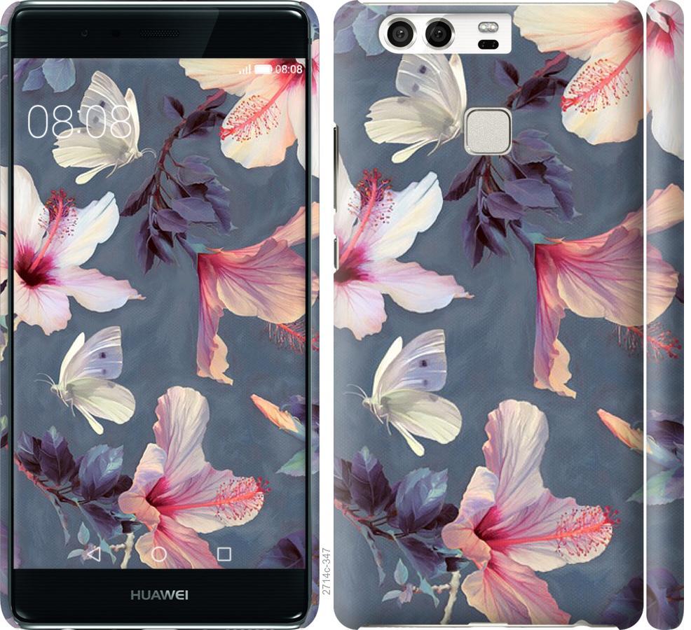 Чехол на Huawei P9 Нарисованные цветы