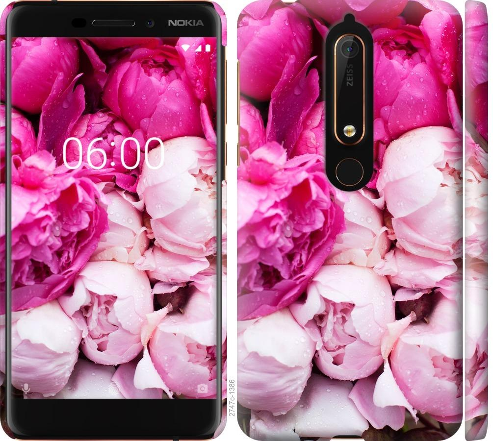 Чехол на Nokia 6.1 Розовые пионы