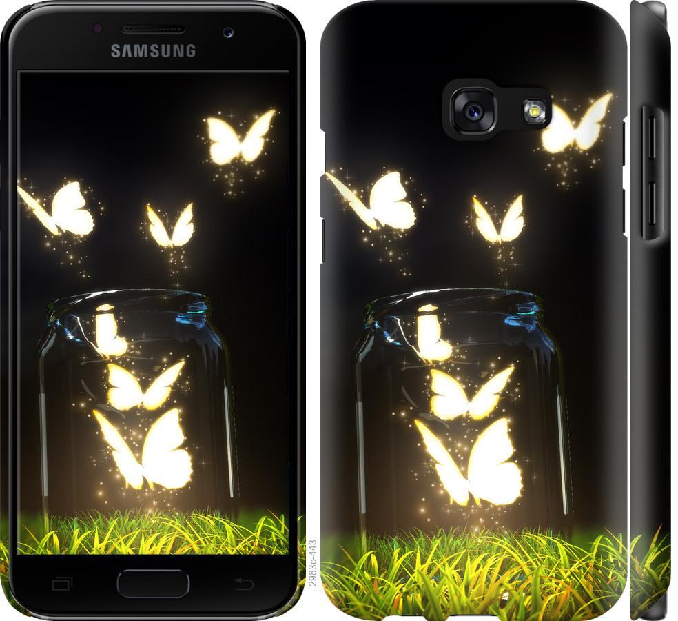 Чехол на Samsung Galaxy A3 (2017) Бабочки