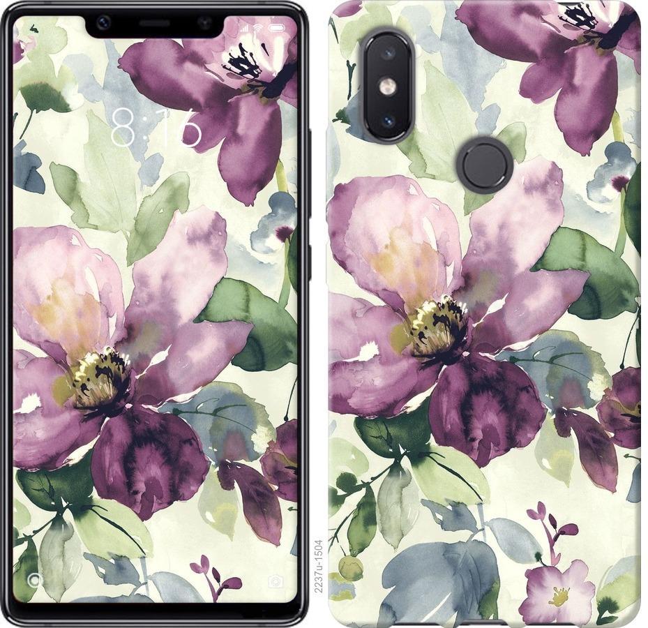 Чехол на Xiaomi Mi8 SE Цветы акварелью