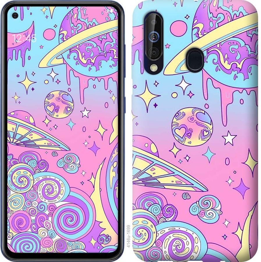 Чехол на Samsung Galaxy A60 2019 A606F Розовая галактика