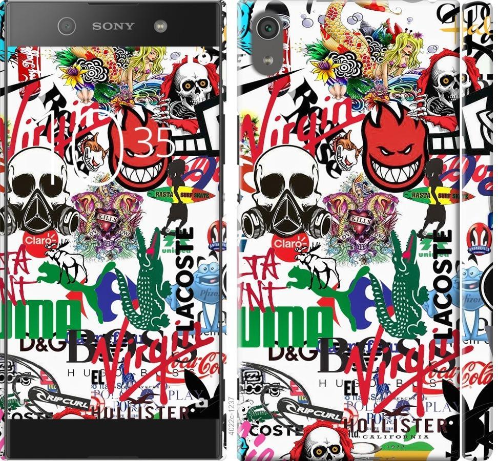 Чехол на Sony Xperia XA1 Ultra G3212 Many different logos