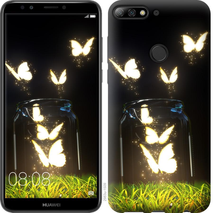 Чехол на Huawei Y7 Prime 2018 Бабочки