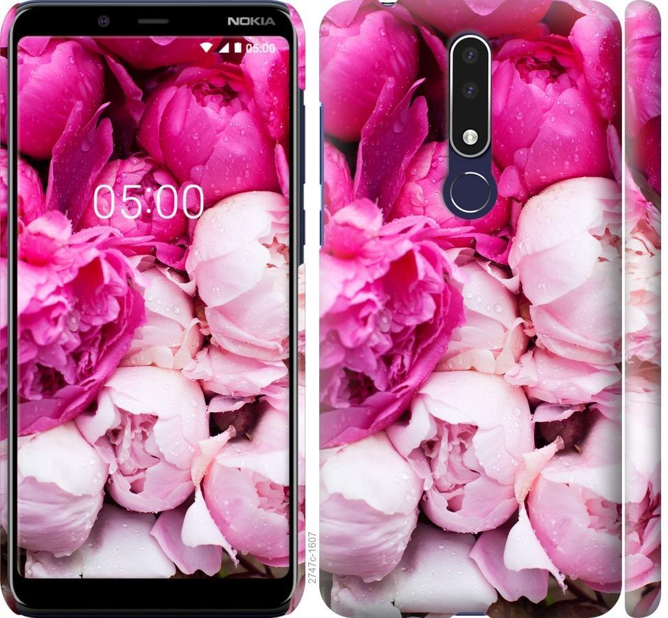 Чехол на Nokia 3.1 Plus Розовые пионы