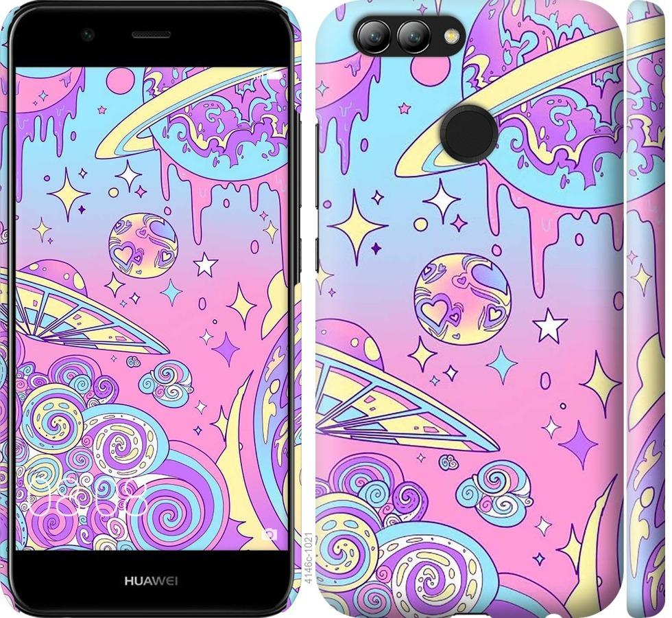 Чехол на Huawei Nova 2 Розовая галактика