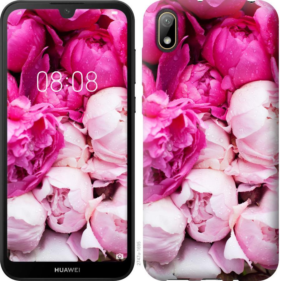 Чехол на Huawei Y5 2019 Розовые пионы