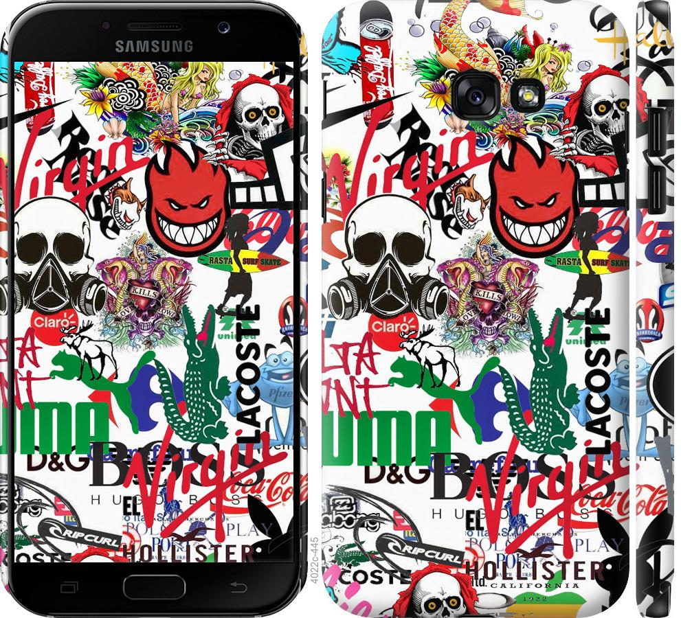 Чехол на Samsung Galaxy A7 (2017) Many different logos