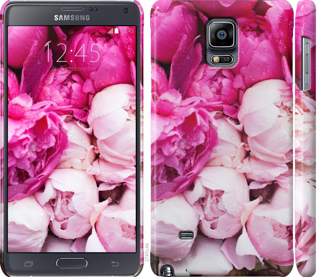 Чохол на Samsung Galaxy Note 4 N910H Рожеві півонії