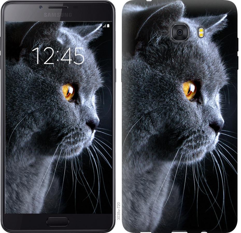 Чехол на Samsung Galaxy C9 Pro Красивый кот