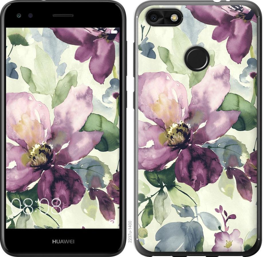 Чехол на Huawei Nova Lite 2017 Цветы акварелью