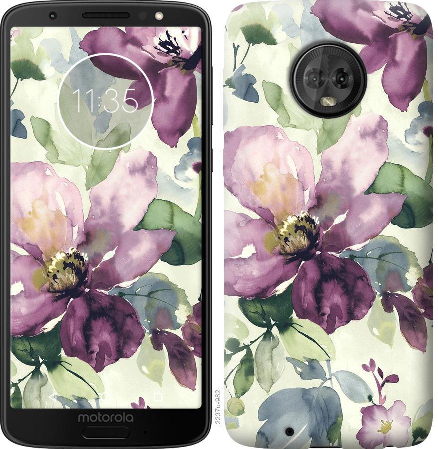 Чохол на Motorola Moto G6 Квіти аквареллю