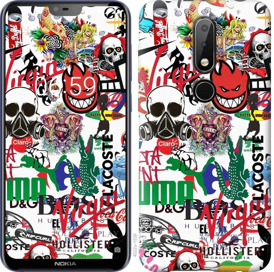 Чехол на Nokia 6.1 Plus Many different logos