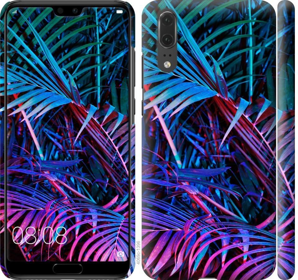 Чехол на Huawei P20 Папоротник под ультрафиолетом