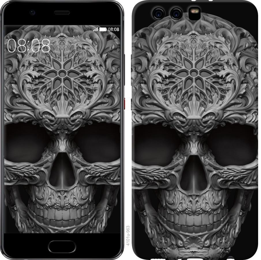 Чехол на Huawei P10 Plus skull-ornament