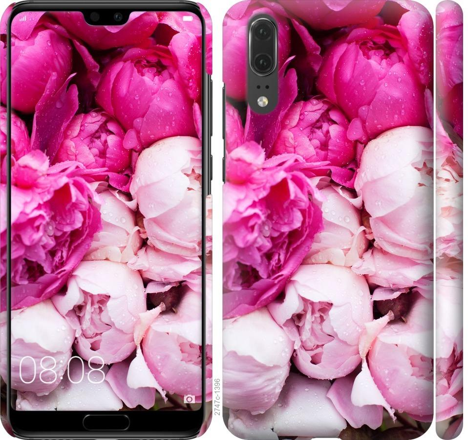 Чехол на Huawei P20 Розовые пионы