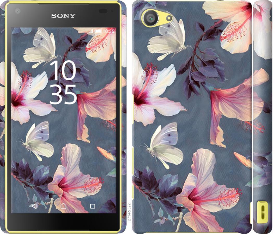 Чехол на Sony Xperia Z5 Compact E5823 Нарисованные цветы