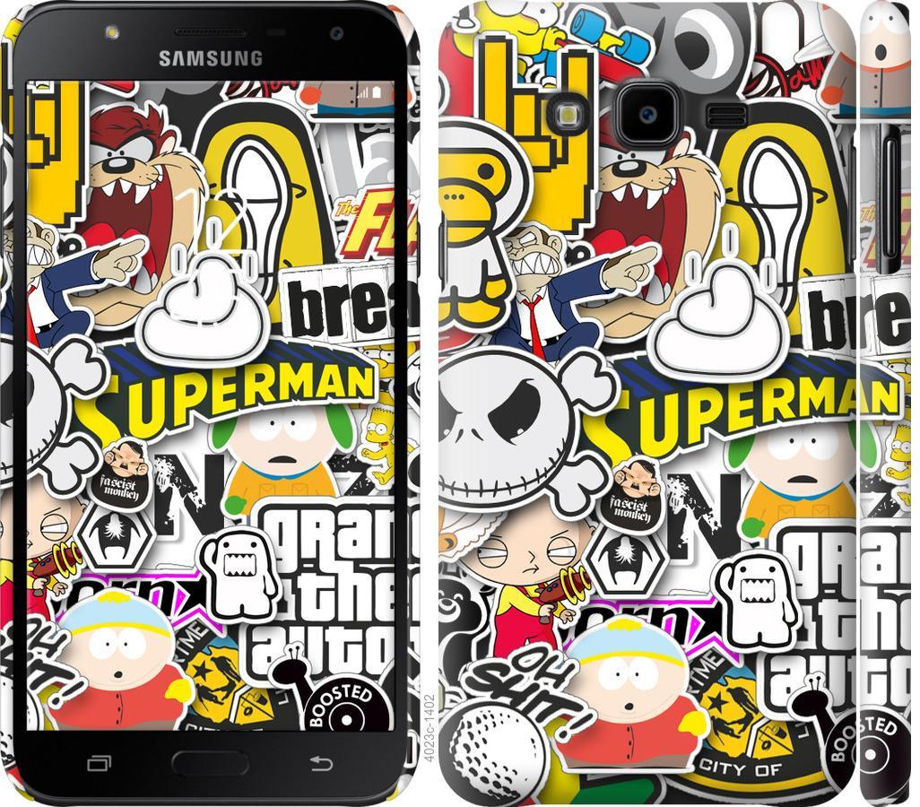 Чехол на Samsung Galaxy J7 Neo J701F Popular logos