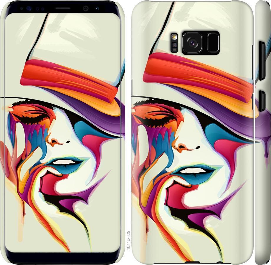 Чехол на Samsung Galaxy S8 Красочная женщина в шляпе