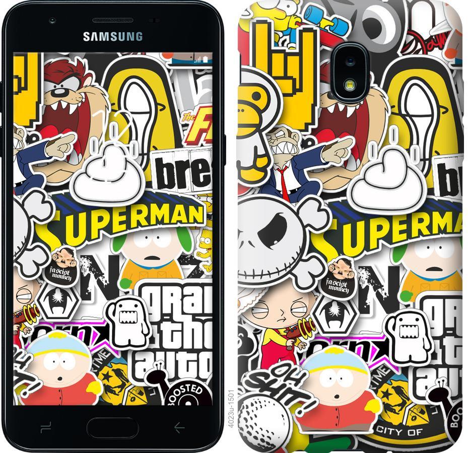 Чехол на Samsung Galaxy J3 2018 Popular logos
