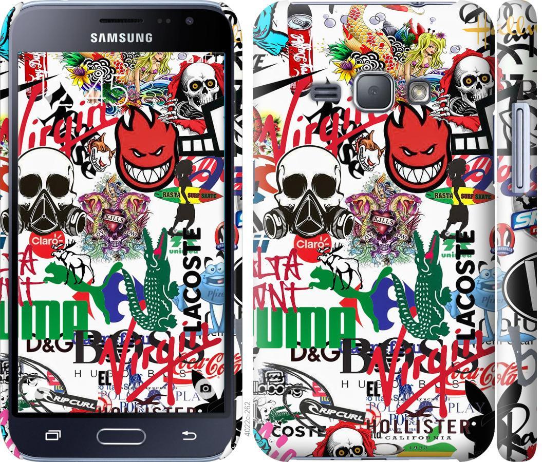 Чехол на Samsung Galaxy J1 (2016) Duos J120H Many different logos