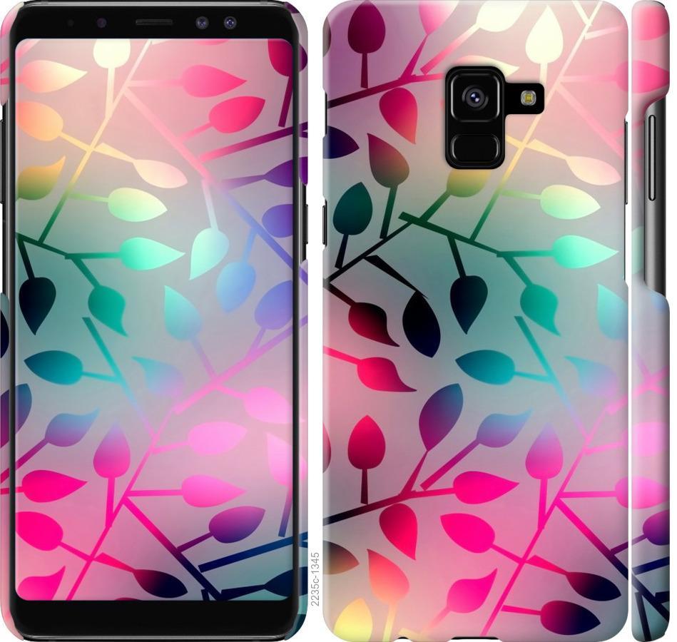Чехол на Samsung Galaxy A8 Plus 2018 A730F Листья