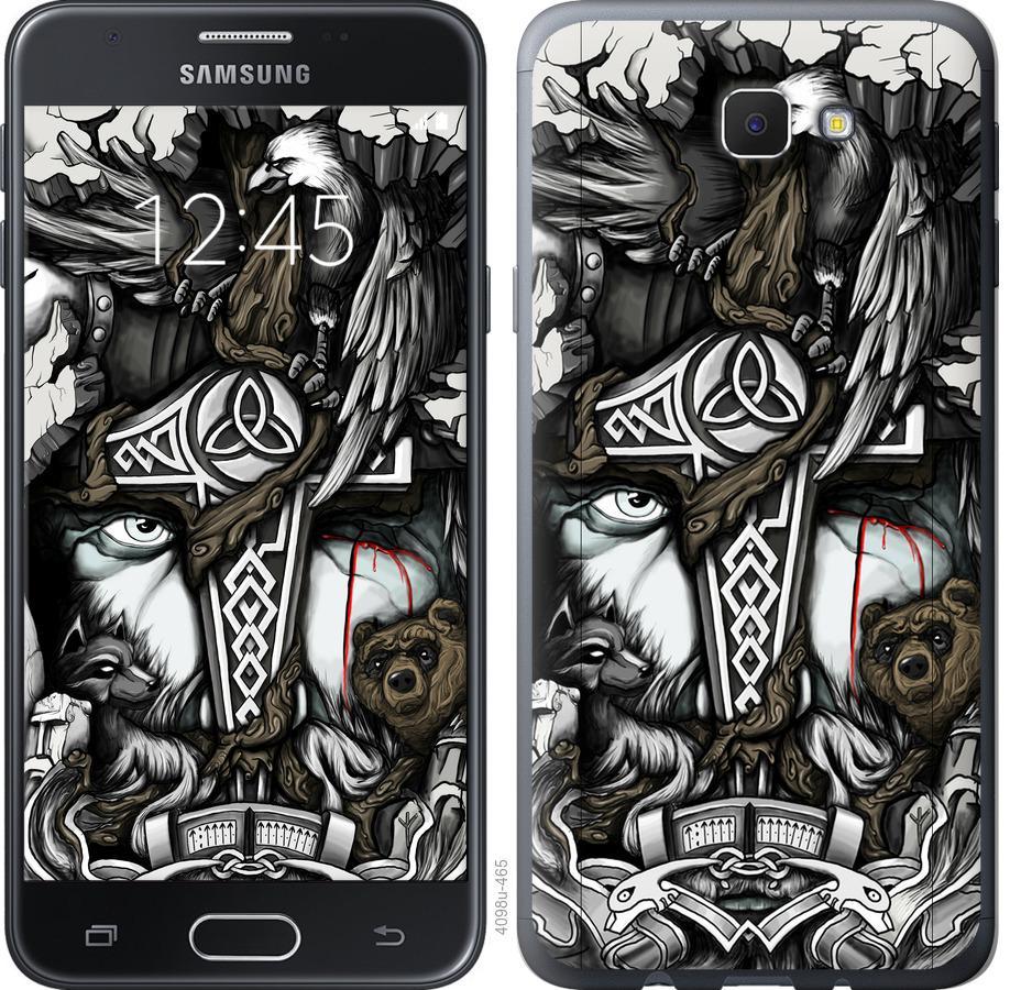 Чехол на Samsung Galaxy J5 Prime Тату Викинг