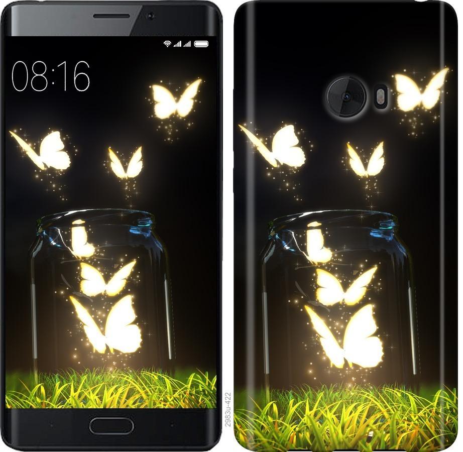 Чехол на Xiaomi Mi Note 2 Бабочки