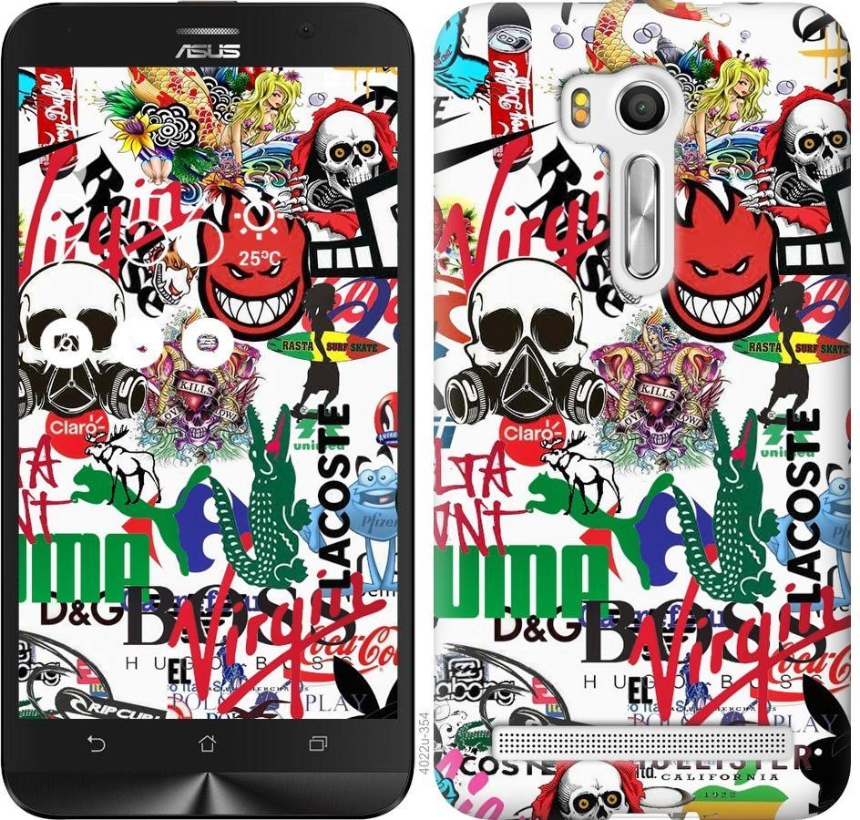 Чехол на Asus ZenFone Go TV ZB551KL Many different logos