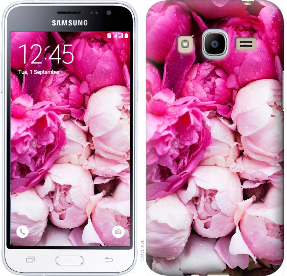 Чехол на Samsung Galaxy J2 (2016) J210 Розовые пионы