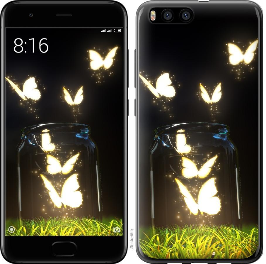 Чехол на Xiaomi Mi Note 3 Бабочки