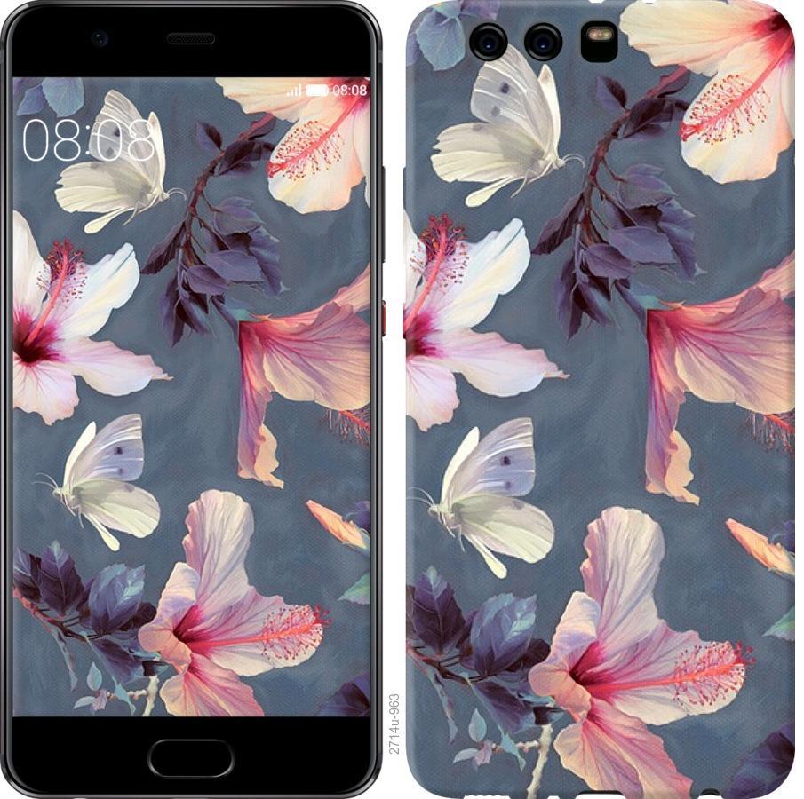 Чехол на Huawei P10 Plus Нарисованные цветы