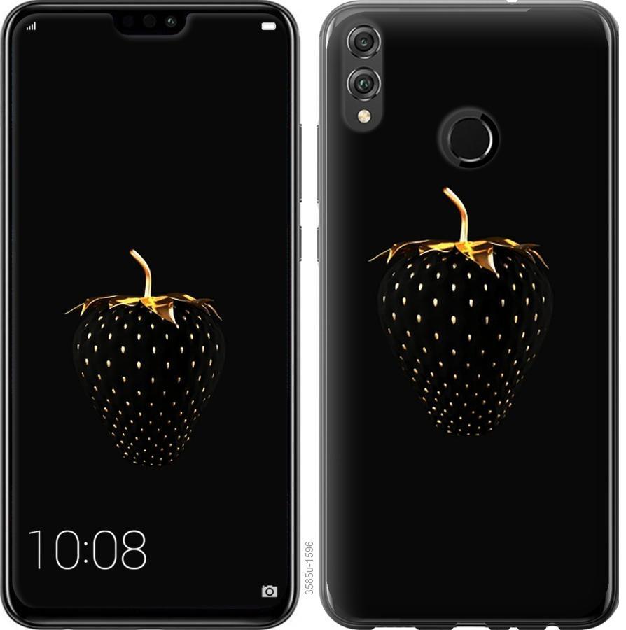 Чехол на Huawei Honor 8X Черная клубника